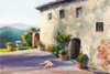 Margo Pullman Oil Painting: A Dog's Life in Italy