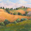 Margo Pullman Oil Painting: Tuscan Afternoon