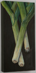 Margo Pullman Oil Painting: Welsh Leeks