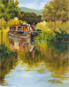 Margo Pullman Oil Painting: Wey Barge